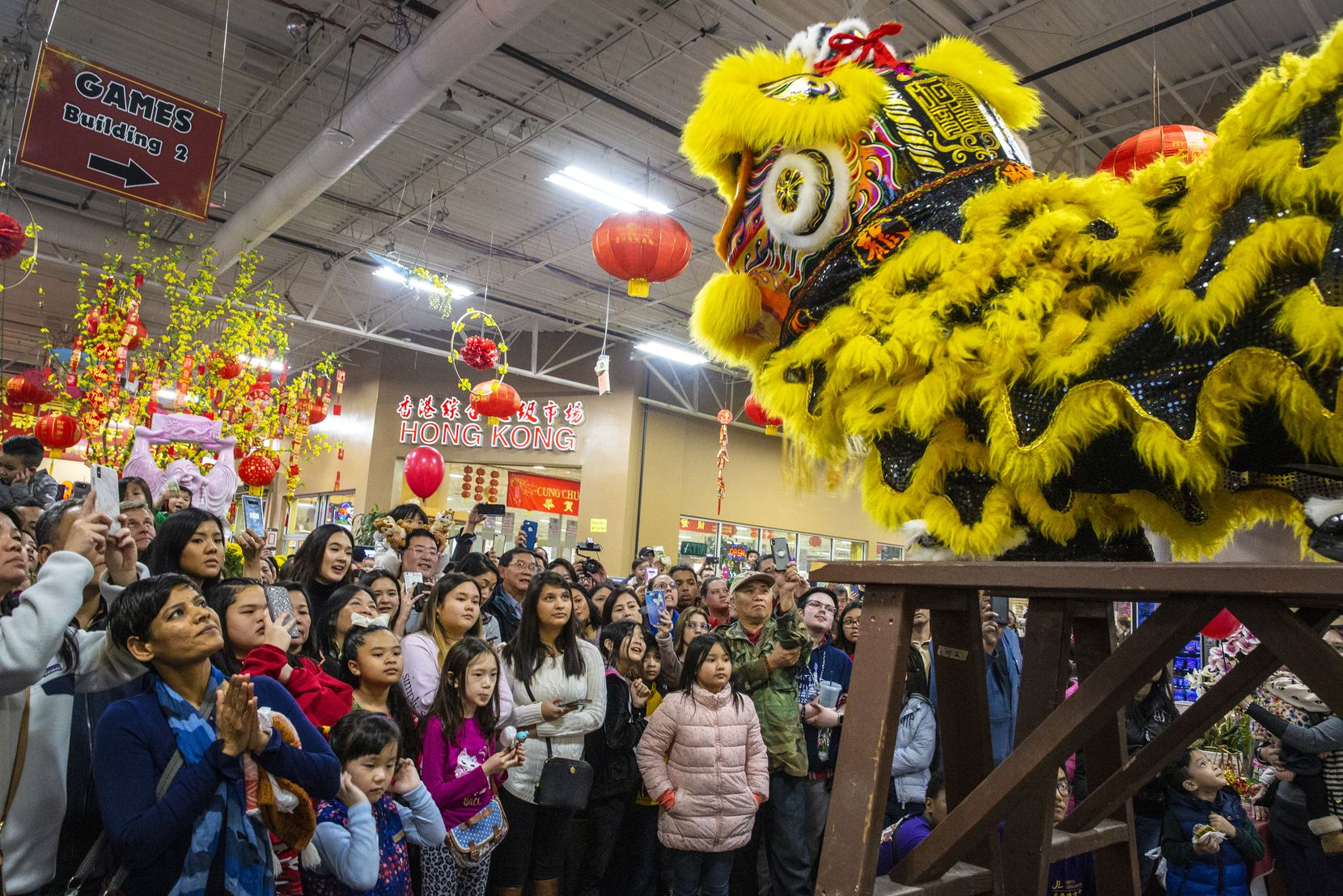 The Jiu Long Sports Association performed at last year's Lunar New Year Festival at Asia Times Square. This year's event continues the next two weekends with a variety of entertainment.