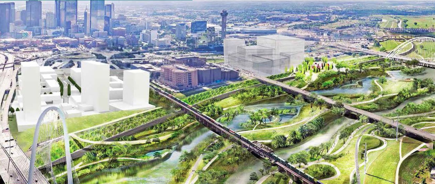 The planned 505 Riverfront mixed-use project would be adjacent to the planned Trinity River Park.