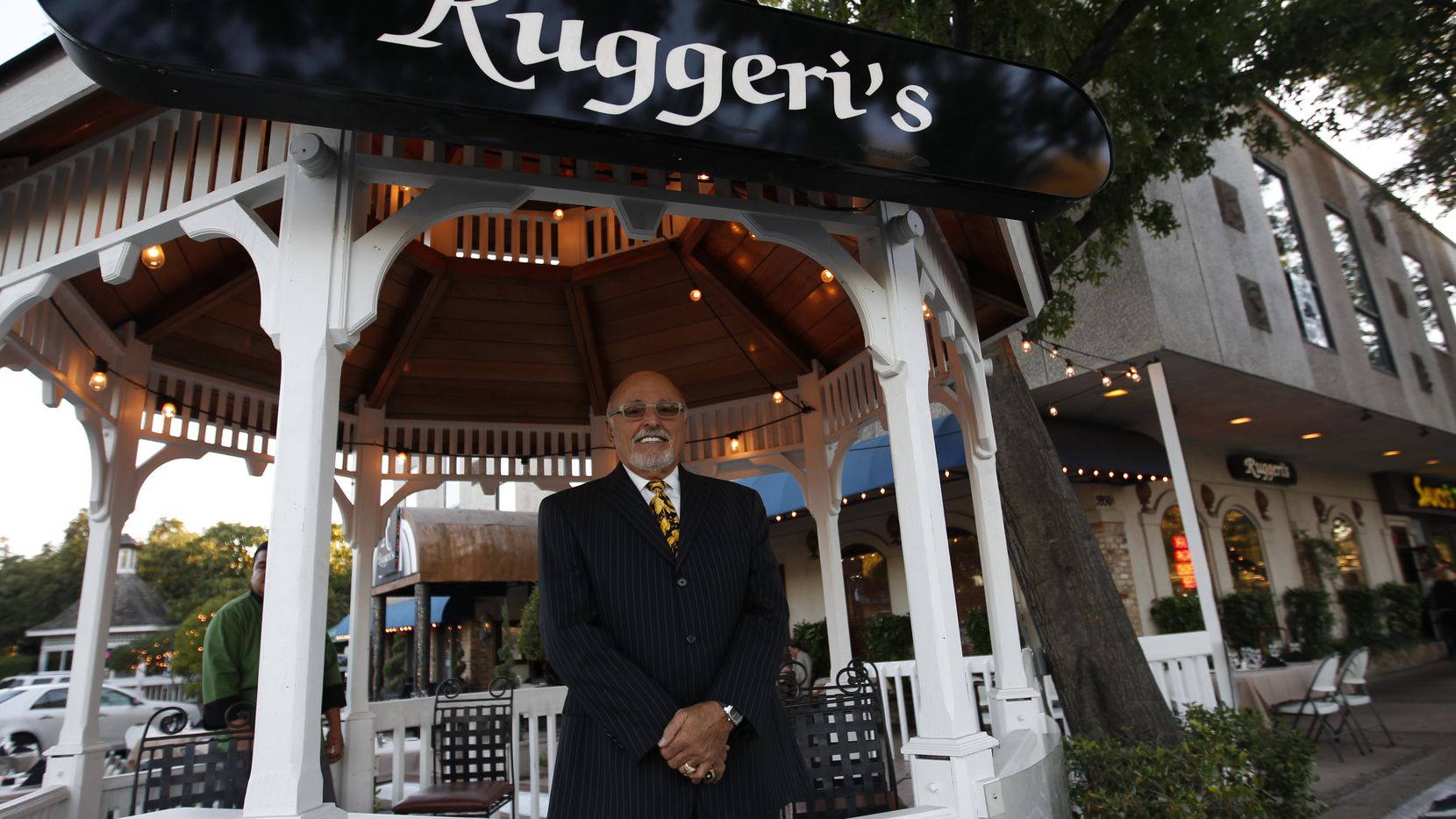 Owner Tom Ruggeri in front of Ruggeri's restaurant in Dallas in October 2014. He opened the first Ruggeri's restaurant on Routh Street in 1985.