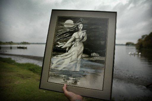 Here's artist Lea Ann Hudson's rendition of the Lady of the Lake.