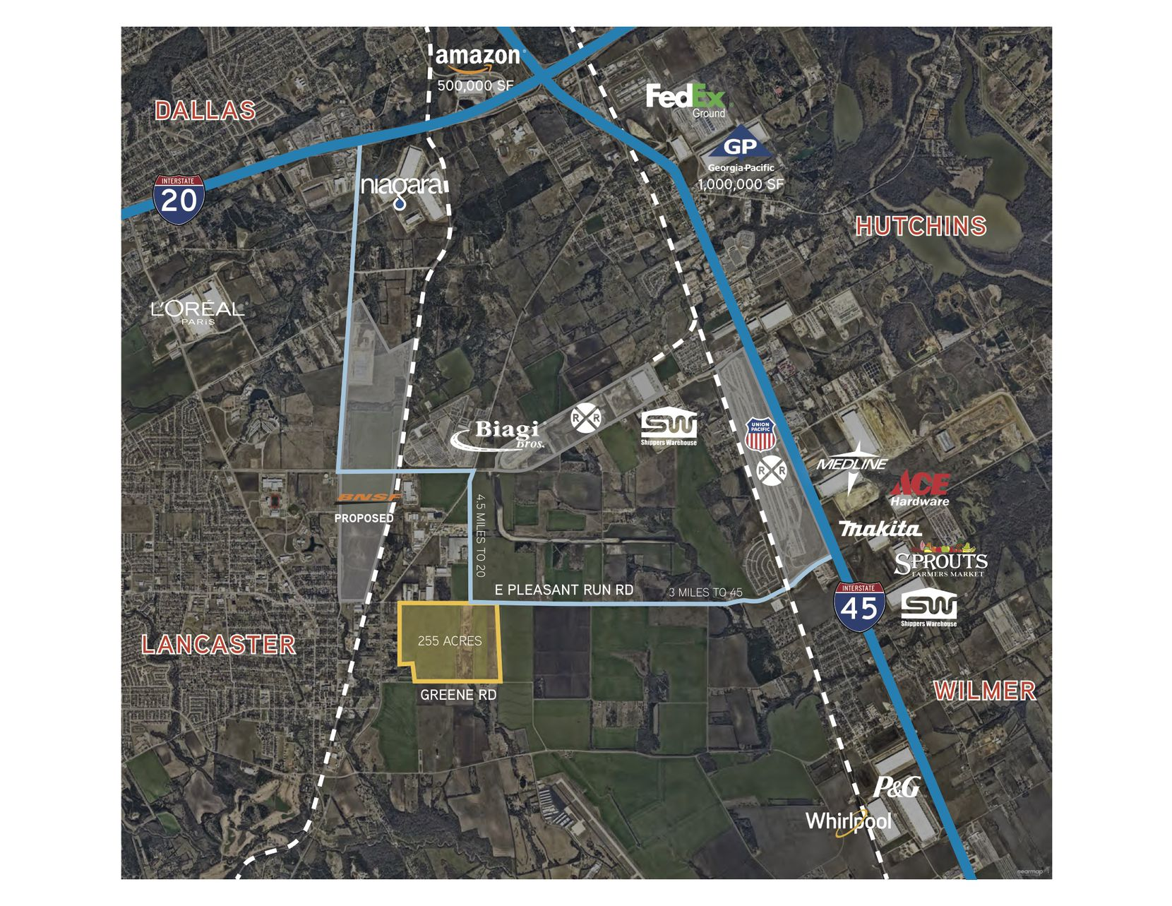 The land developer Mike Rader purchased is on Pleasant Run Road west of Interstate 45.
