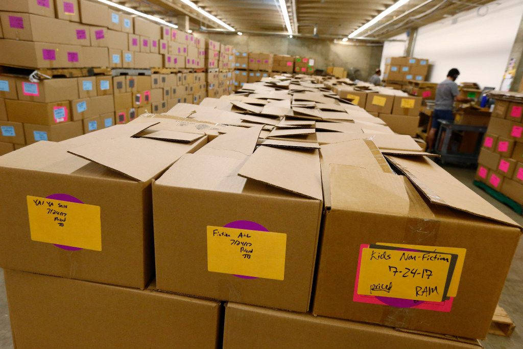 The regional distribution area in Half Price Books at the store on Northwest Highway in Dallas on July 27.