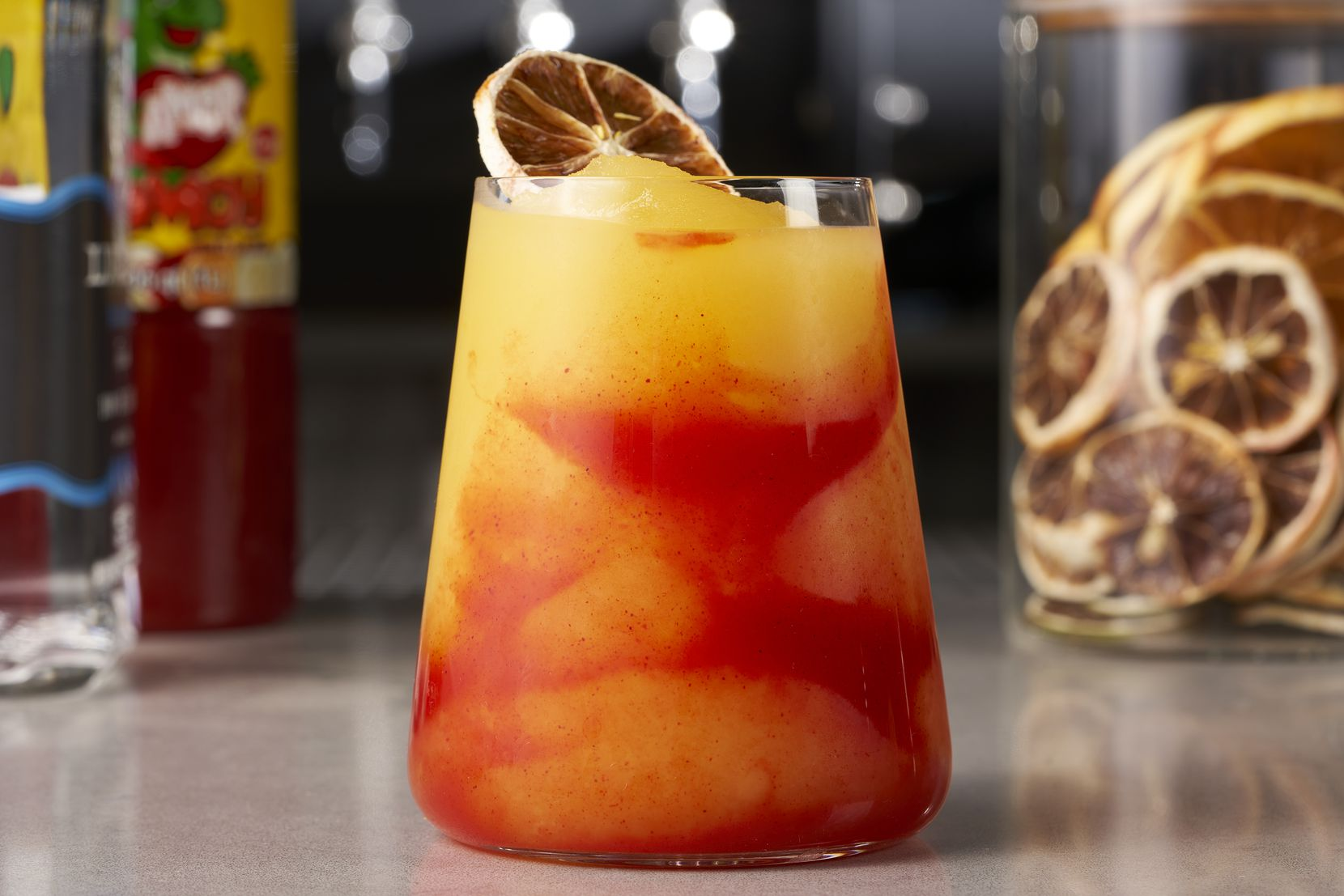 JAXON Texas Kitchen & Beer Garden, expected to open March 2 at AT&T Discovery District in downtown Dallas, will serve a frozen chamoy margarita. Chamoy is a Mexican condiment made from pickled fruit like apricot, mango and plum.