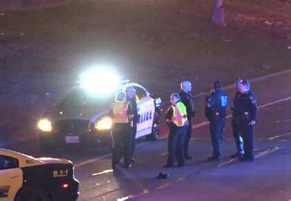 Dallas police and Dallas County sheriff's deputies were called to a crash that killed a pedestrian on Aug. 25, 2019, on Dallas' S.M. Wright Freeway.