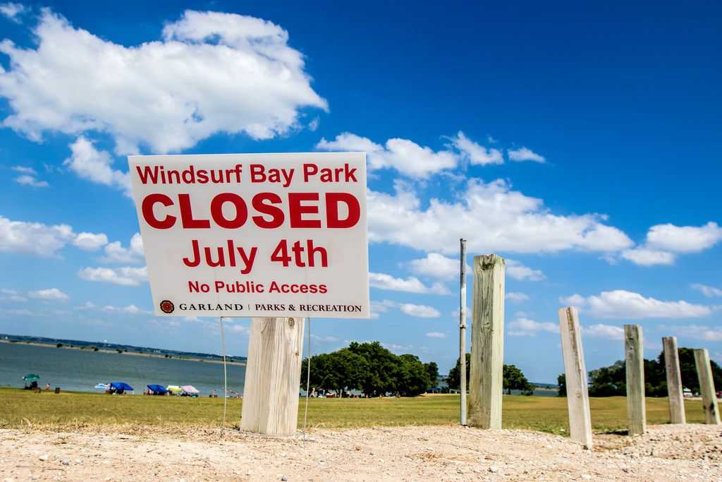 Windsurf Bay Park on Lake Ray Hubbard in Garland, Texas will be closed on July 4. Pictured on June 23, 2018. (Carly Geraci/The Dallas Morning News)