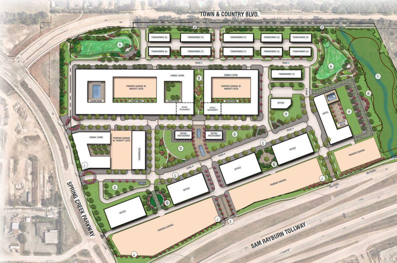 The mixed-use project is planned to include office towers, a hotel, retail apartments and townhouses on the north side of State Highway 121 in Frisco.