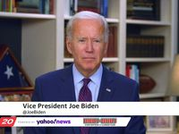 Vice President Joe Biden is interviewed via video conference on August 5, 2020.