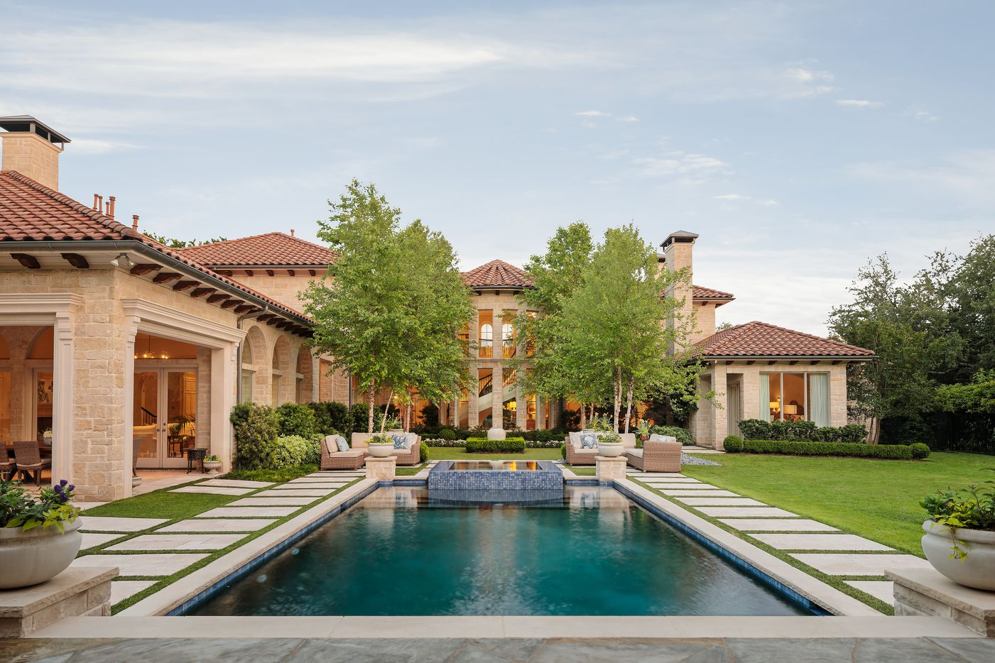 This 8,700-square-foot home at 5027 Radbrook Place in Dallas' Preston Hollow neighborhood is listed for $4,795,000.