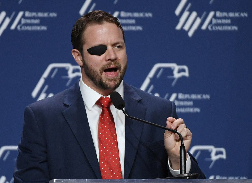Houston Rep. Dan Crenshaw at the Republican Jewish Coalition's annual leadership meeting at The Venetian Las Vegas after appearances by U.S. President Donald Trump and Vice President Mike Pence on April 6, 2019.