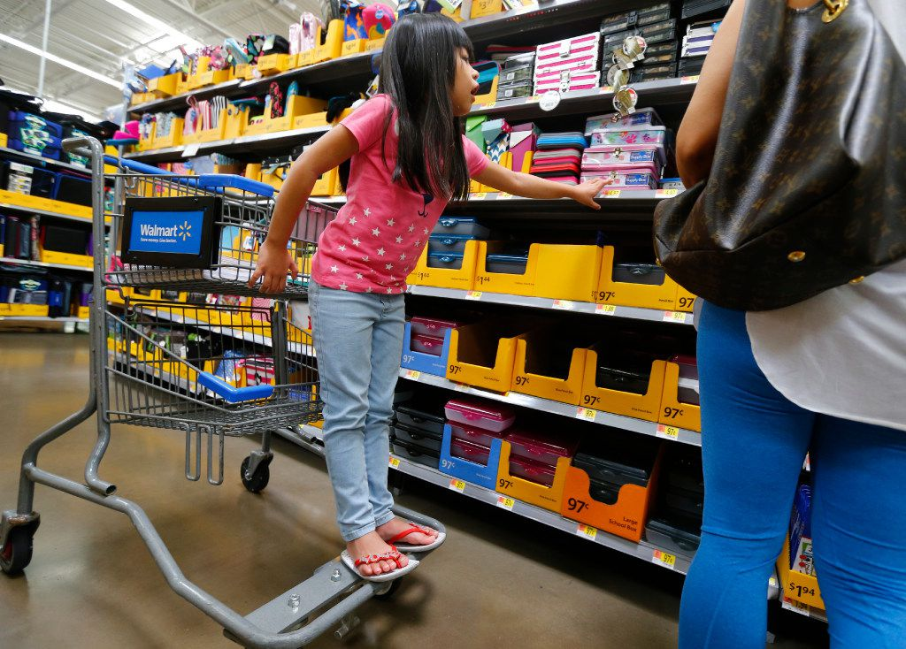 Isis Pangelinan shops for back-to-school materials at Walmart at Timber Creek Crossing in Dallas in 2017.