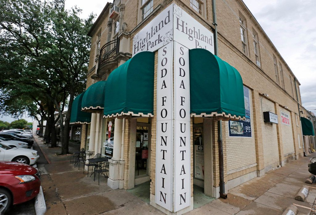 The Highland Park Soda Fountain on Knox Street in Dallas on Friday, August 10, 2018.
