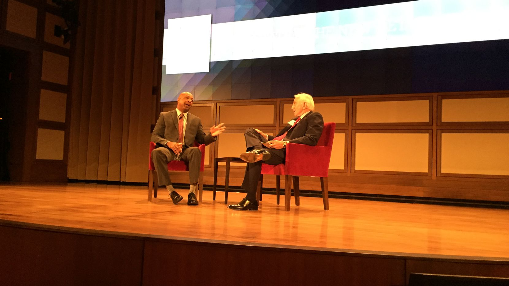 J.C. Penney CEO Marvin Ellison has a fireside chat with Dallas real estate veteran Herb Weitzman at the Bush Center on the SMU campus on Wednesday, January 11, 2017.