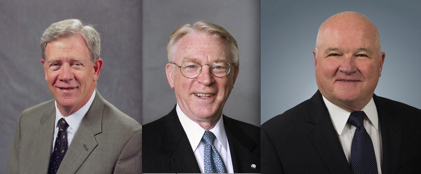 John Scovell, John Crawford and Jack Huff are being honored by North Texas' commercial property industry.
