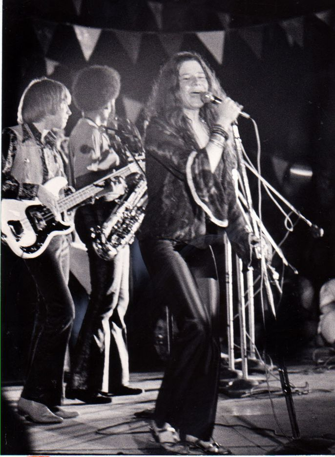 Shot August 31, 1969 - Janis Joplin performs at the Texas International Pop Festival at Lewisville, Texas.