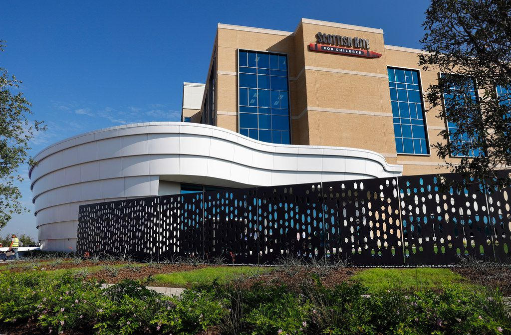 The new Scottish Rite for Children Orthopedic and Sports Medicine Center in Frisco is five stories and  345,000 square feet. The hospital, off the North Dallas Tollway at Lebanon, is set to open in October.