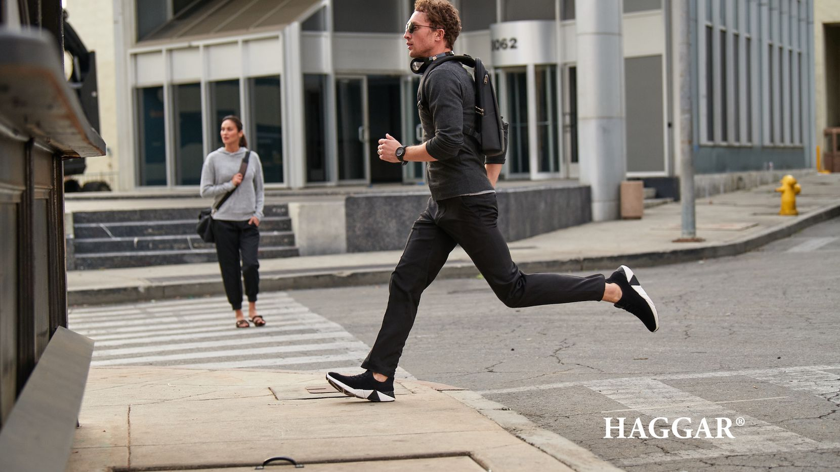 A Haggar ad shows its premium comfort dress pant, which is made with fabric that has fibers from recycled bottles. Since 2009, Haggar's pants have led to the recycling of 150 million disposable plastic water bottles, the company said.