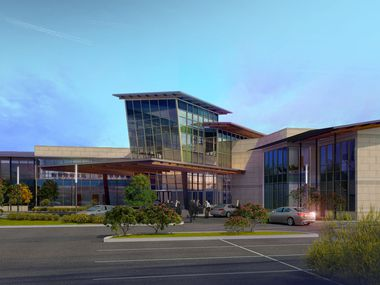 A rendering shows the planned executive terminal at the McKinney Airport; part of a $16 million dollar construction project that now has a new end date.