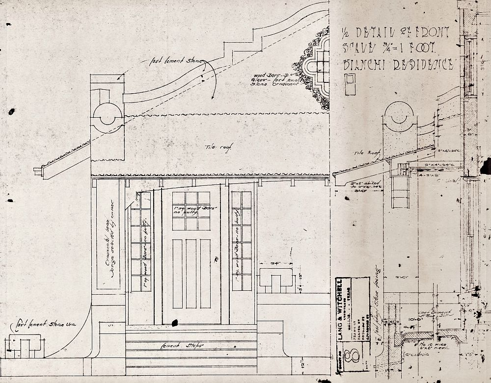Preservation Dallas found in its basement the original drawings for the house prepared by Lang and Witchell