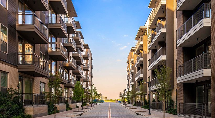 The Riley Cityline apartments are part of the Cityline mixed-use project.
