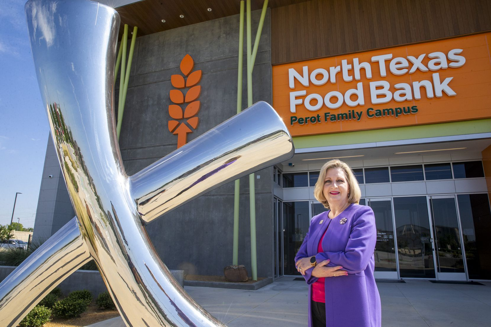CEO Trisha Cunningham is shown at the North Texas Food Bank Perot Family Campus in Plano in June. She took on the role in July 2017 after a 30-year career at Texas Instruments.