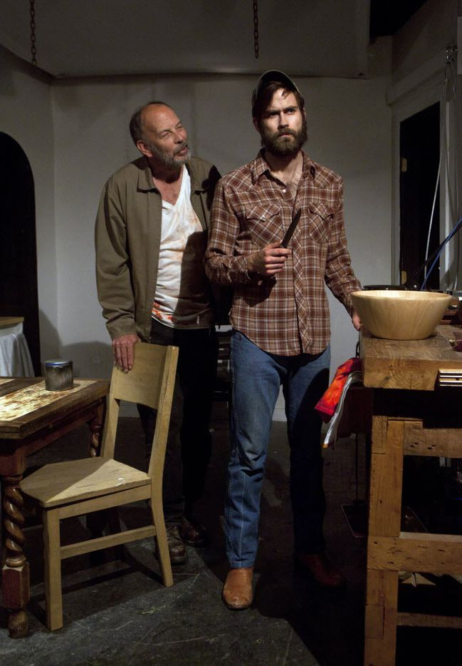 Matthew Posey and Justin Locklear in Dreams of Slaughtered Sheep at Ochre House on April 12, 2013.