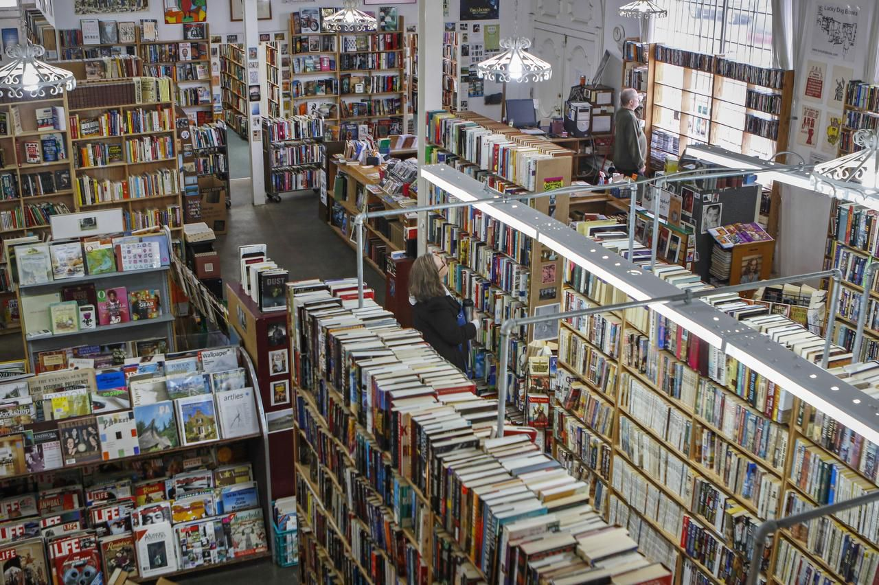 The north Oak Cliff bookstore, stuffed with used books, magazines, records and videos, has wanted for customers since opening three years ago. Owner John Tilton hopes to find a new location, but times are tough in the age of e-books.
