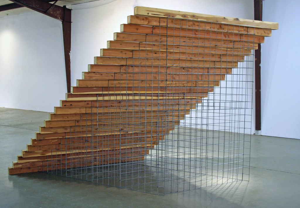 Tom Orr's STAIRS stems from the Dallas artist's interest in common elements of architecture taken out of context.