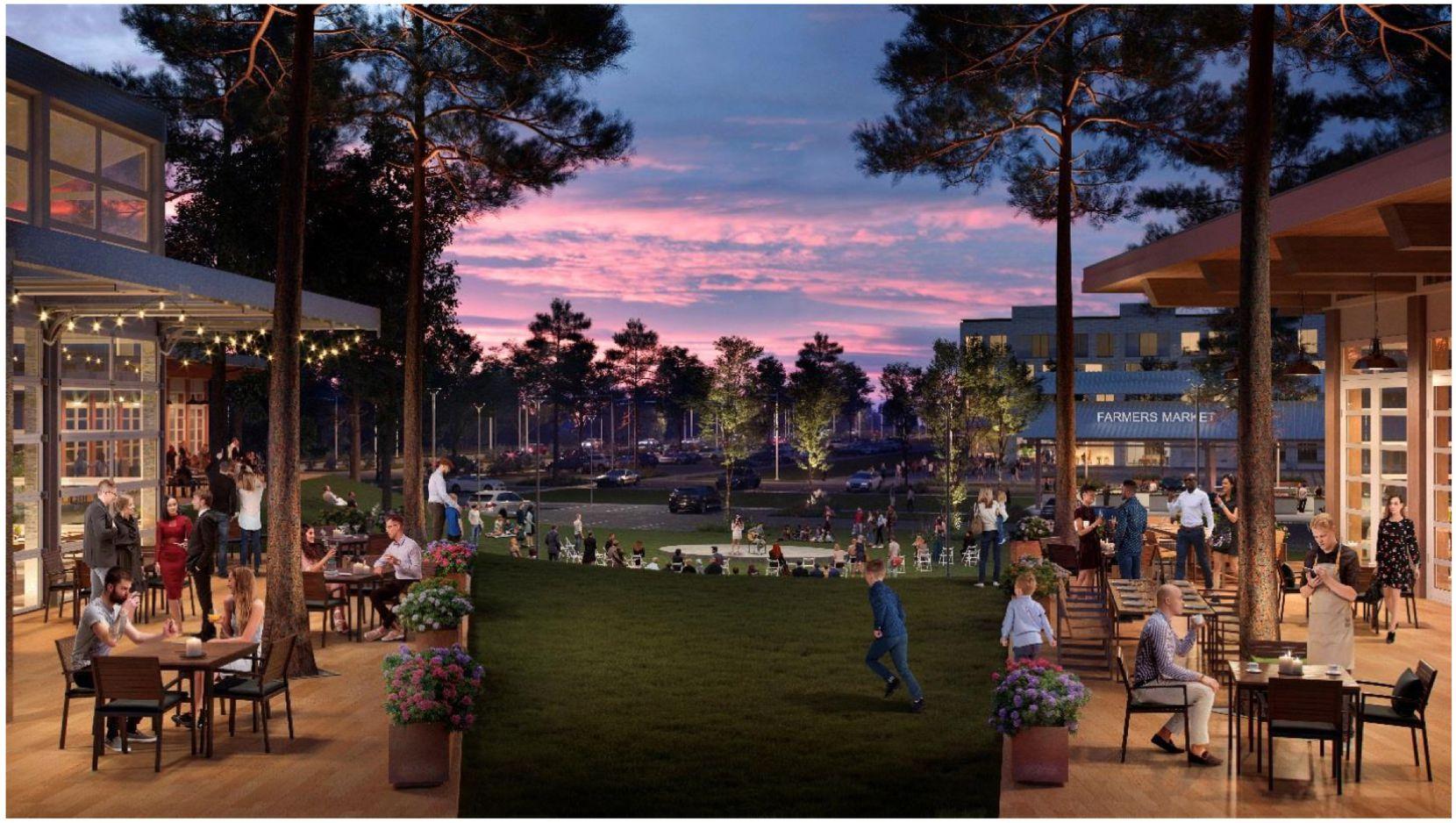 The planned development includes a live music venue.