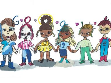 Frisco fifth-grader Sharon Sara will soon have this doodle featured on the Google homepage for a day.