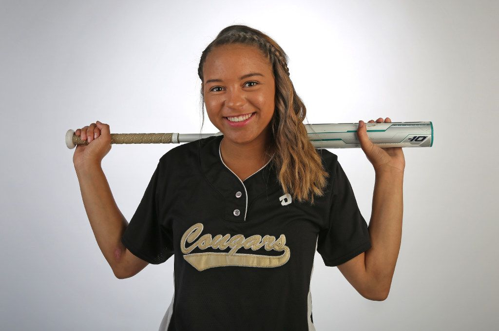 The Colony softball player Jayda Coleman, who is the DMN All-Area Player of the Year, photographed on Wednesday, June 7, 2017. (Louis DeLuca/The Dallas Morning News)