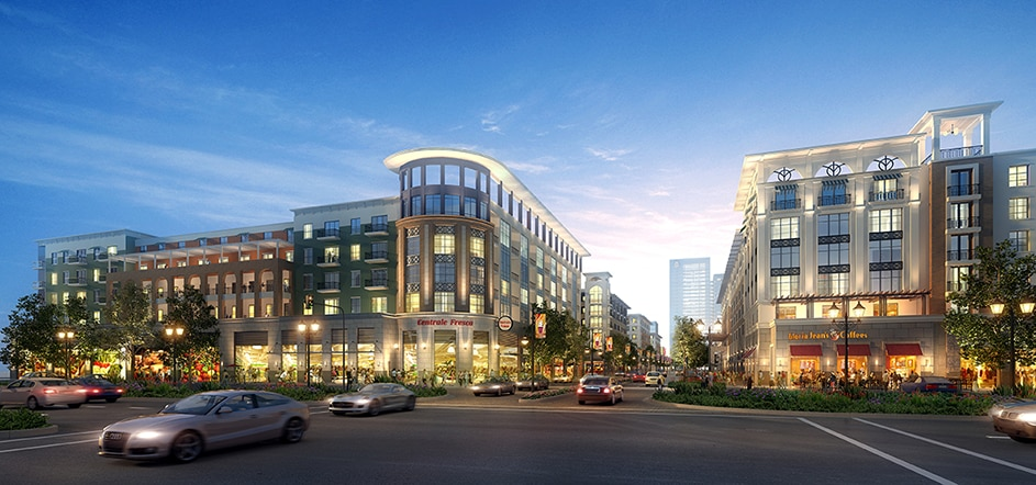 The first phase of Beck Ventures' redevelopment of the Valley View site includes a hotel, apartments and retail. (Beck Ventures)