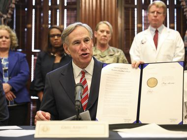 "Gov. Greg Abbott on Friday declared a ""state of disaster"" over the new coronavirus in Texas."
