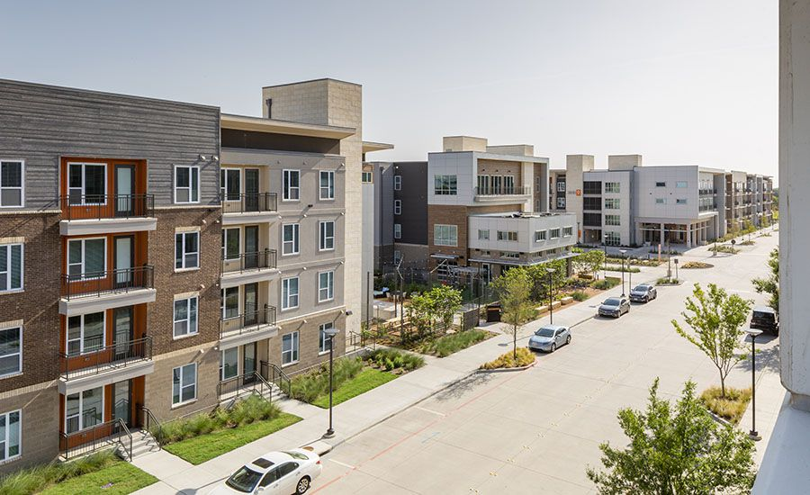 The first phase of the Northside apartment and retail project at UTD opened in 2016.