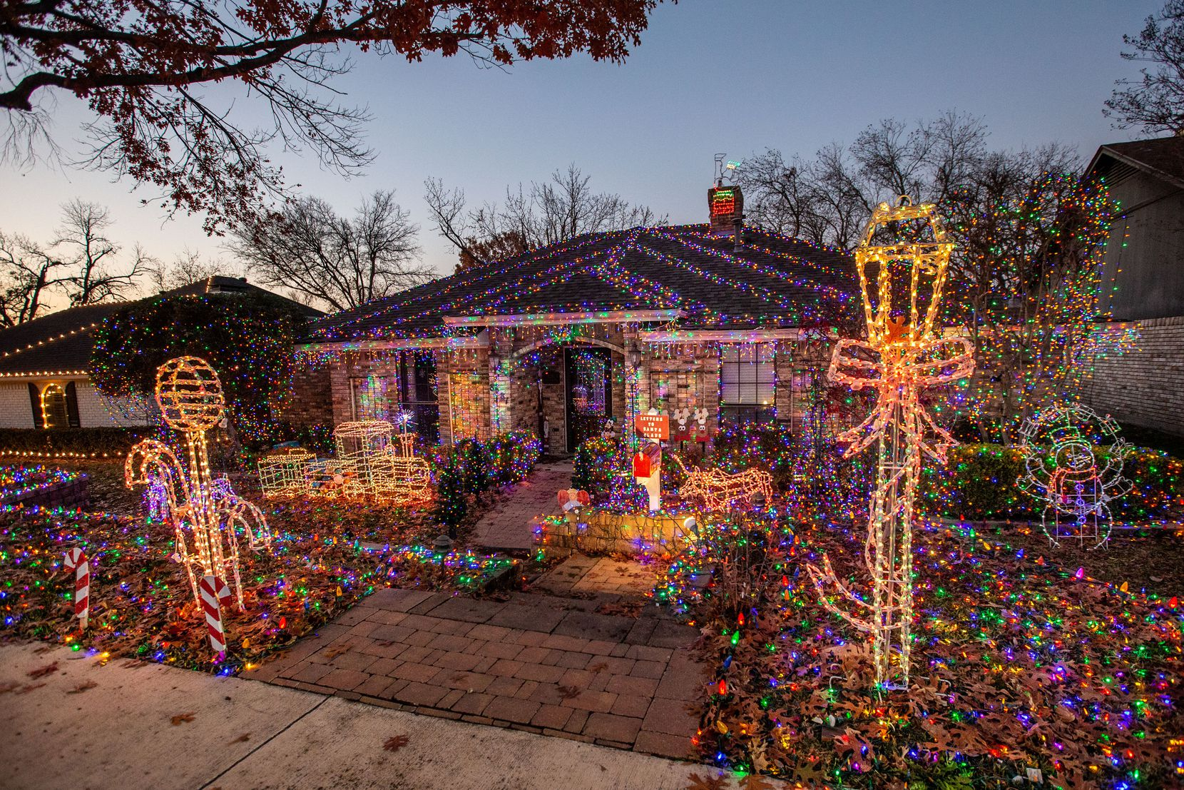 """Jim and Linda Shultz are always on the lookout for additional decorations for their Christmas display. The idea for """"Letters to Santa Claus"""" occurred to them after handyman Jim brought home a neighbor's old mailbox."""