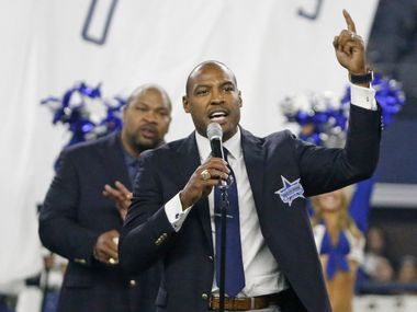 Former Dallas safety Darren Woodson is pictured during his Ring of Honor induction ceremony during the Seattle Seahawks vs. the Dallas Cowboys NFL football game at AT&T Stadium in Arlington on Sunday, November 1, 2015.