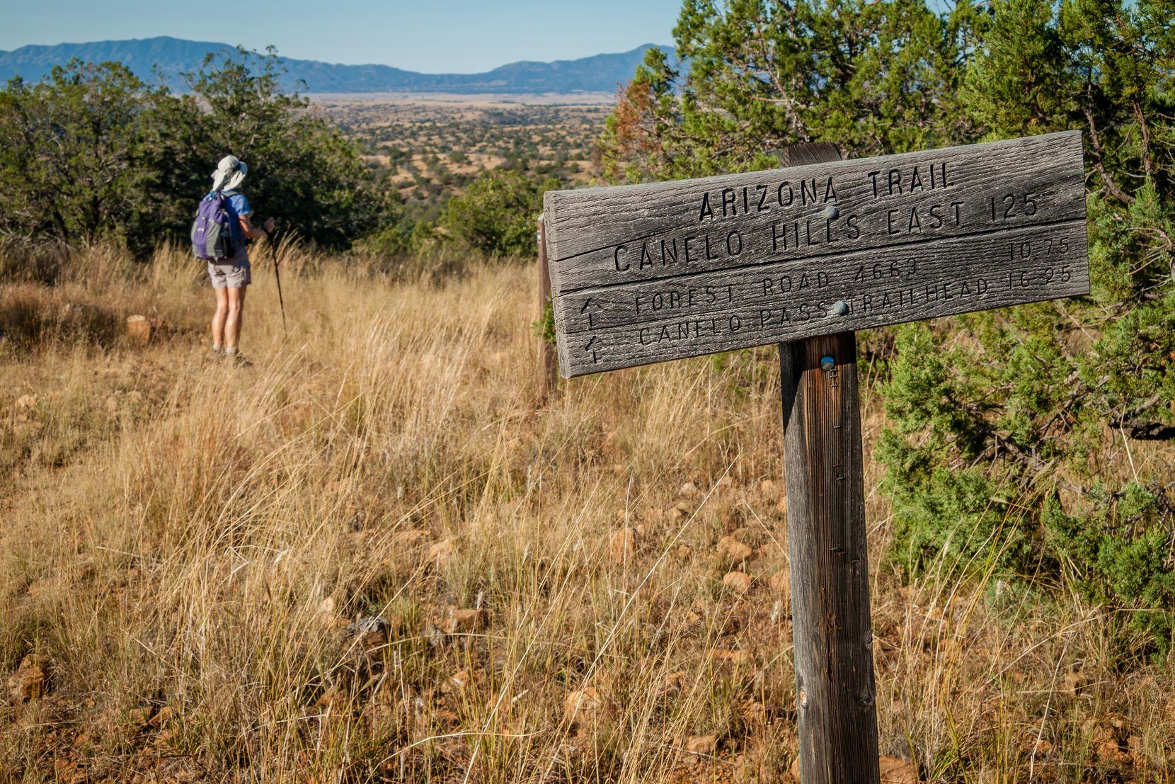 The Arizona National Scenic Trail, or AZT, runs from the state's Mexican border to Utah.