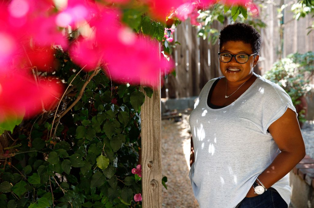 Attica Locke poses for a portrait in Los Angeles. Locke's new novel, Bluebird, Bluebird, is about a black Texas Ranger working a murder case in a small East Texas town.