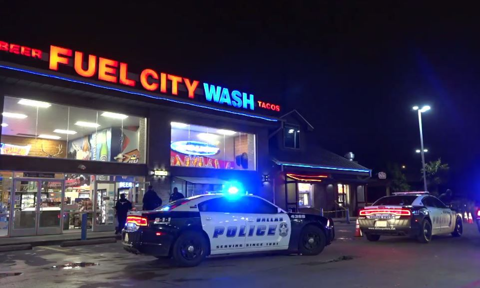 Metro Video Dallas/Fort Worth captured footage of the aftermath after one man was shot by another outside the renowned 24-hour taco spot.