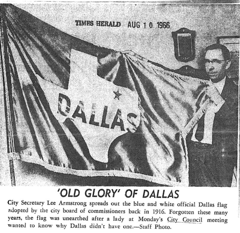 This was NOT the flag. Instead it came from SMU students in 1954.