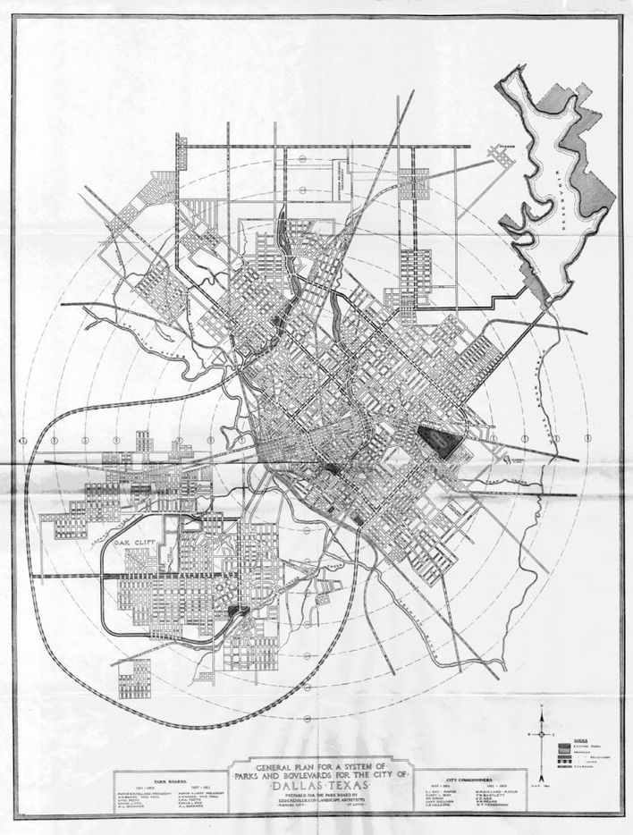 The Kessler Plan / A City Plan for Dallas - Report of Park Board / by George Kessler - 1911 / This page was scanned from a .pdf provided by the City of Dallas' Municipal Archives - May 2012