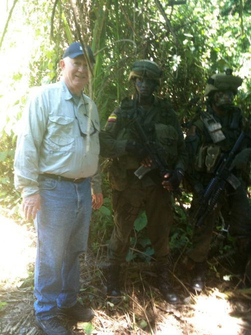 Dallas attorney Charlie Blau tagged along with the Colombian National Police during a jungle raid of a cocaine lab in 2010.