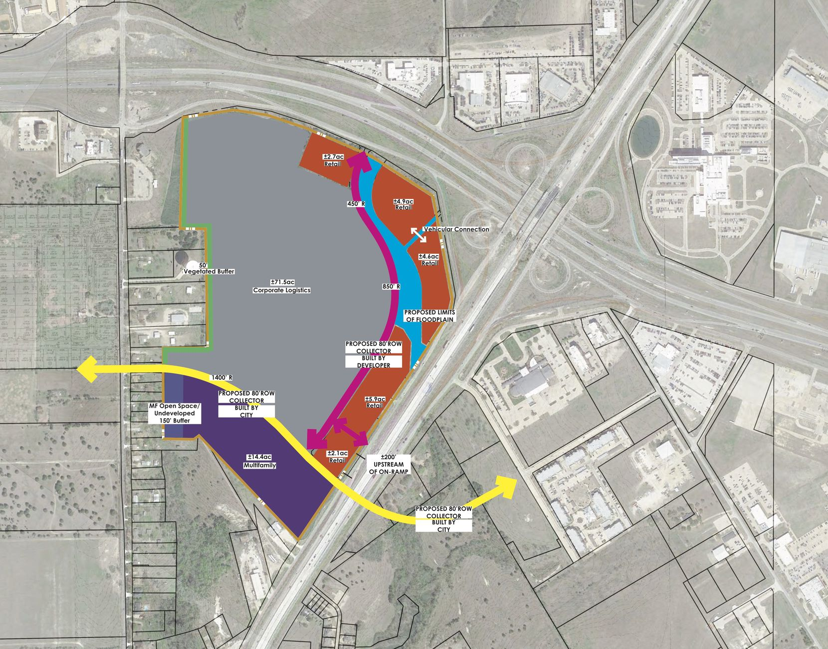 Blue Star Land has purchased almost 125 acres in Interstate 35E and U.S. Highway 287 for its mixed-use project.