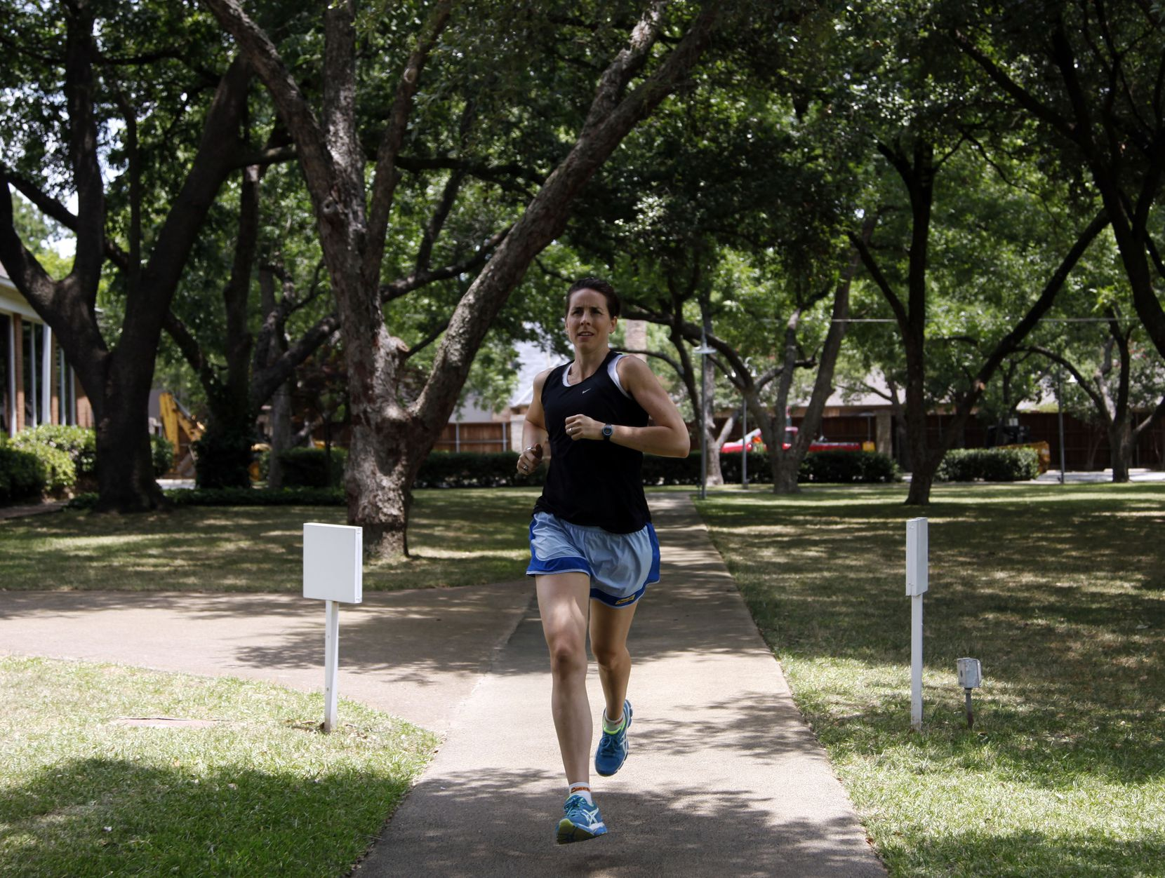 Dr. Riva Rahl, preventive medicine physician at Cooper Clinic Platinum, goes for a run. She explains that sweating helps our bodies cool down.