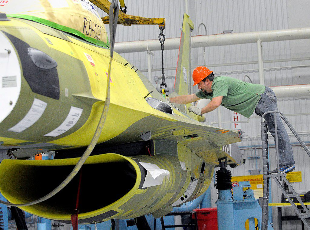 The last F-16, RA-28, was lifted by an overhead crane and moved to a paint station at Lockheed Martin Aeronautics in Fort Worth on April 10, 2017. RA-28 is the 3,630th F-16 fighter to be built in Fort Worth and 4,588th to be built worldwide. It's the last F-16 produced at the facility.