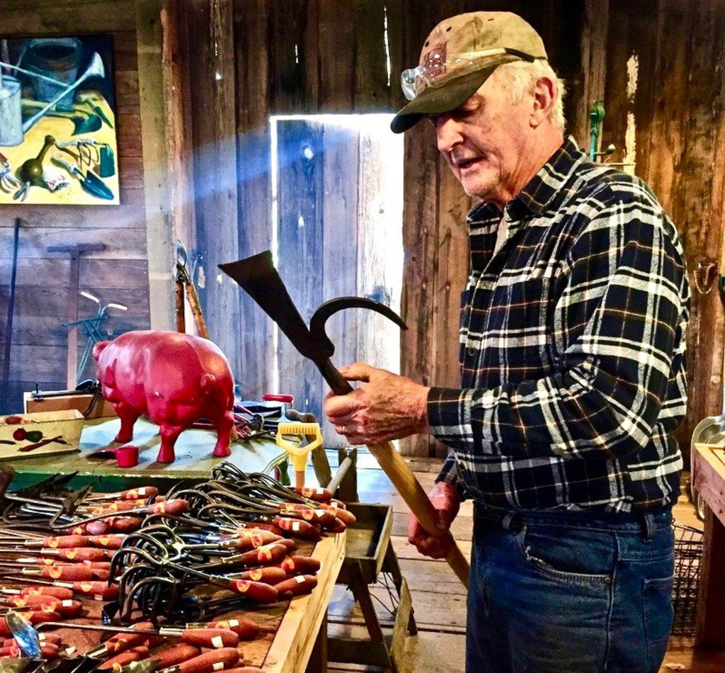 Former advertising executive Bob Denman only partially retired. He became a blacksmith and created his own line of gardening tools.