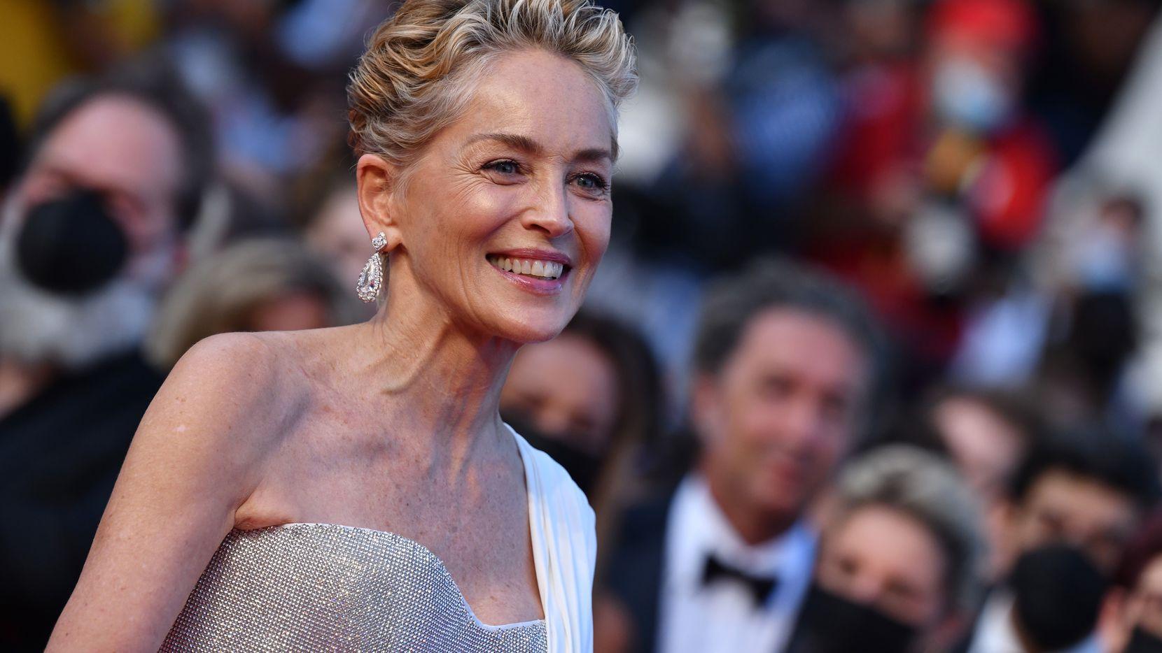 Sharon Stone en el Festival de Cine de Cannes el 17 de julio de 2021.