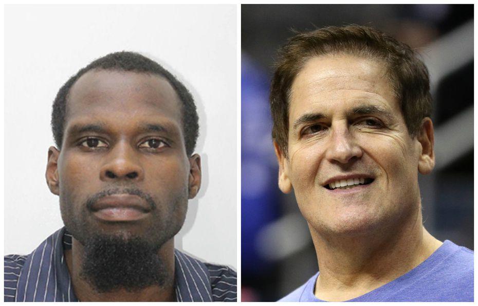 Left: Mark Washington, who was arrested Wednesday night at a Nashville gas station. Right: Mark Cuban, who owns the Dallas Mavericks.