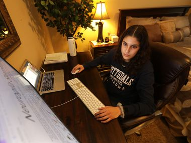 15-year-old Centennial High School sophomore Julene Elkhatib photographed at her home in Frisco, TX, on Jan. 6, 2021. (Jason Janik/Special Contributor)