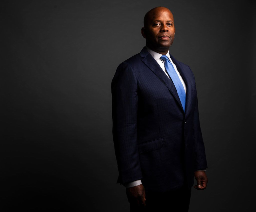 Dr. Brian William poses for a photograph in The Dallas Morning News Studio in Dallas on Friday, July 5, 2019. Dr. Brian Williams became a known Dallas figure across the nation after a passionate speech about trust within the black community and policing catapulted him into the national spotlight.