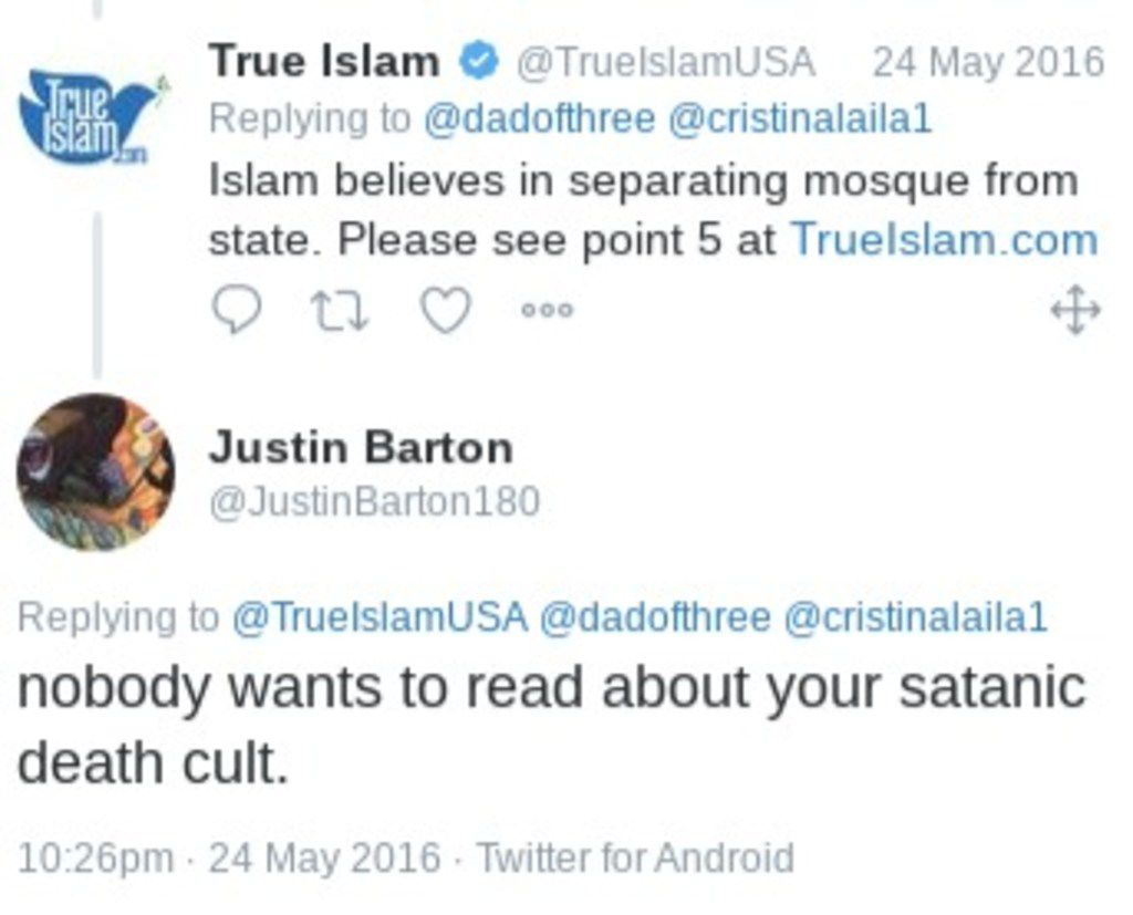 This is a screenshot of a tweet from McKinney ISD teacher Justin Barton.